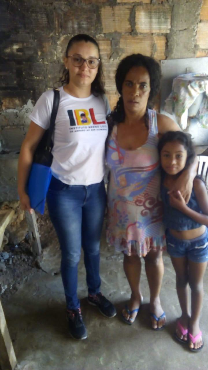 Visitas realizadas pelo IBL aos assistidos no projeto Cesta Básica